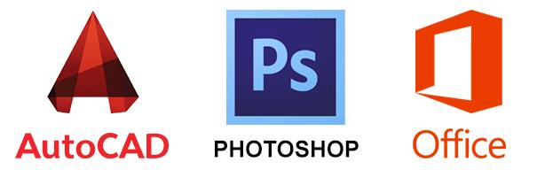 Autocad-Word-Photoshop